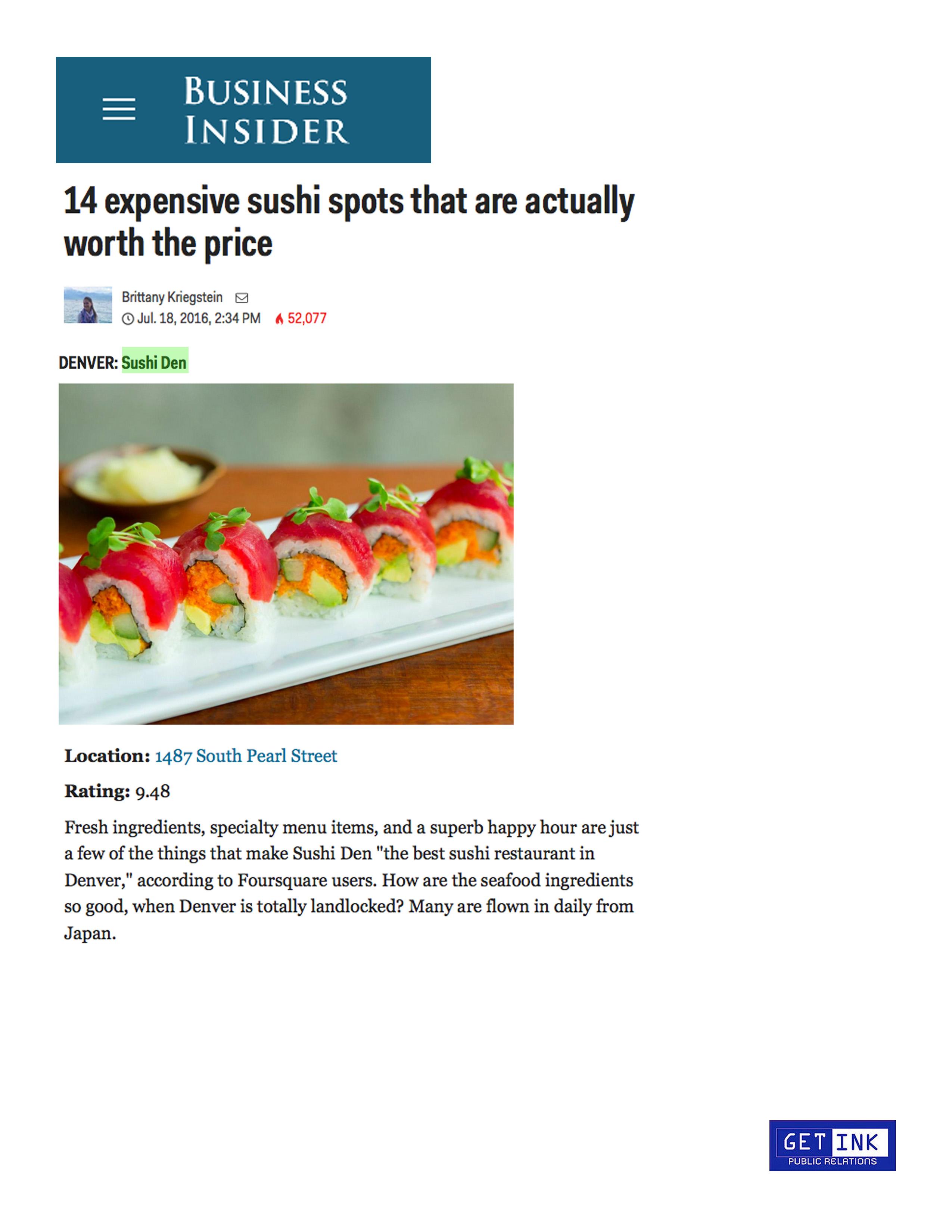 BusinessInsider Sushi Den