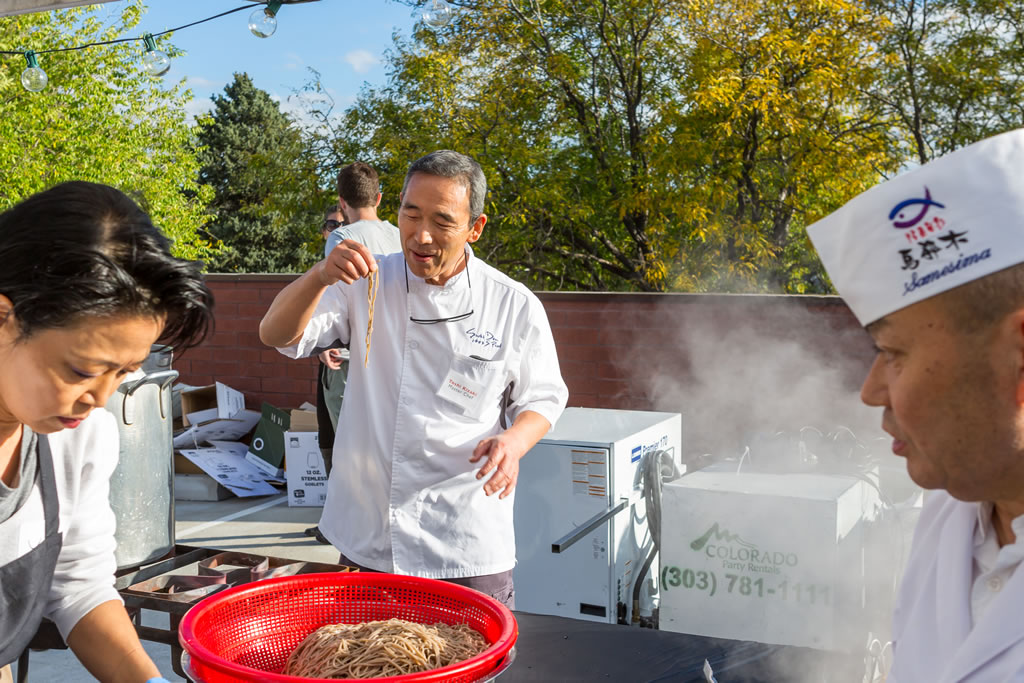 Toshi testing noodles
